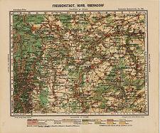 Freudenstadt Horb Oberndorf 1900 orig. Peip-Karte Sulz Alpirsbach Haigerloch