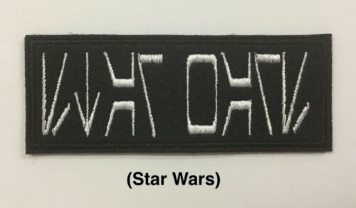 PERSONALISED AUREBESH FONT STAR WARS STYLE NAME FELT PATCH FANCY DRESS COSTUME