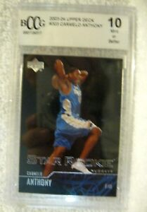 Carmelo-Anthony-RC-2003-04-Upper-Deck-Rookie-Card-303-Graded-BccG-10-Nuggets-V2