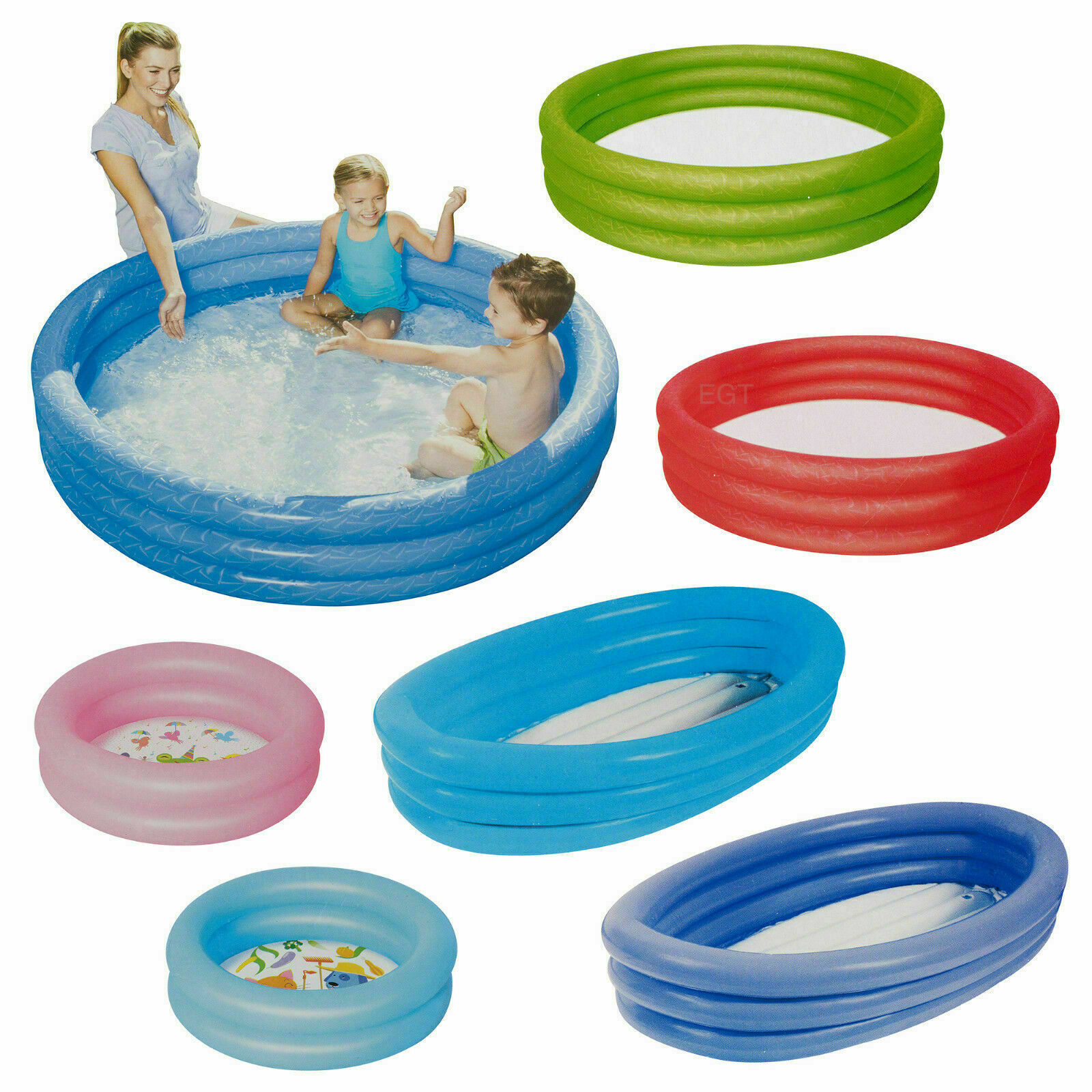 Kids Bestway Colorful Swimming Pool Water Paddling Activity Inflatable Fun Play