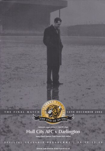 2002 HULL CITY v DARLINGTON LAST LEAGUE GAME AT BOOTHFERRY PARK