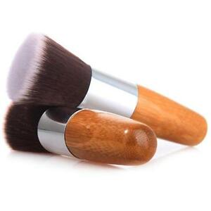 Vogue-Buffer-Foundation-Powder-Brush-Flat-Top-Cosmetic-Wooden-Handle-Tool-New-Q