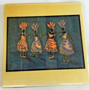 Details about Sam Nelson A R T  Co Deco Art Tile Rejoice Amd Be Glad New  Mexico ODOI Studio