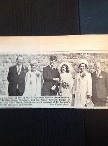 A1-4-Ephemera-1969-Picture-Wedding-Marilyn-Penney-Westgate-Roger-Bishop-Folkesto