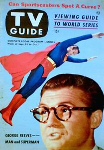 TV-Guide-1953-Superman-George-Reeves-V1N26-Burns-amp-Allen-Jack-Benny-Original-COA