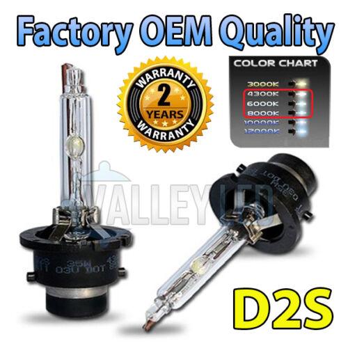 2 x 4300k D2S HID Xenon OEM Replacement Headlight Bulbs 66240 - 2 Year Warranty