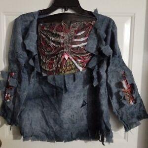 New-W-O-Tags-Boy-039-s-Child-Zombie-Shirt-Halloween-Costume-Size-Medium-8