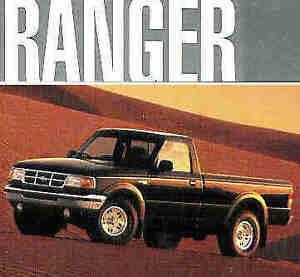 1993 FORD RANGER SPLASH ORIGINAL SALES BROCHURE INCLUDES 4 X 4/'S