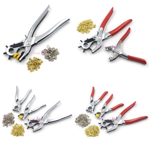 Punch Tools Kit Plier 3in1 Eyelet Leather Hole Belt Grommet Shoe Snap Setter DIY