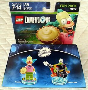 NEW and UNBOXED LEGO Dimensions Simpsons Krusty the Clown Fun Pack 71227