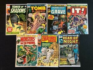 HUGE-LOT-HORROR-MARVEL-TOWER-OF-SHADOWS-MONSTERS-ON-PROWL-OTHERS-7-COMICS