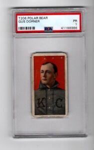 T206 Gus Dorner DOPNER error Polar Bear Back tobacco baseball card PSA 1