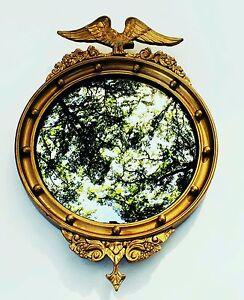 C 1825 Eagle Mirror Antique Round Wall Mirror Convex
