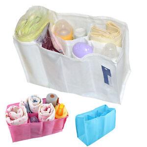 Mother-Bag-Travel-Outdoor-Baby-Diaper-Nappy-Bottle-Organizer-Insert-Storage-Bag