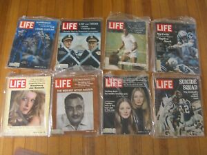 LIFE Magazines (8) weeklies total; from 1967-1971 (See details for dates)
