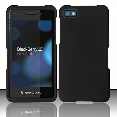 For BlackBerry Z10 Rubberized HARD Case Snap On Phone Cover Black
