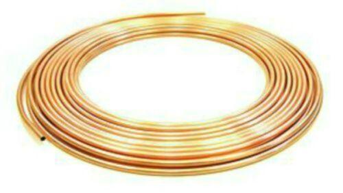 4MM MICROBORE COPPER PIPE//TUBE X2 METRES DIY////GAS//WATER//PETROL////CARAVAN//CAMPER
