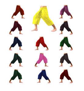 Thaï Pêcheur Pantalon Yoga Massage Rayonne Coton 3/4 Chaîne Unisexe-afficher Le Titre D'origine Longue DuréE De Vie