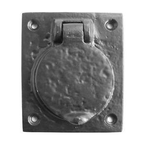 Front Door Cylinder Lock Cover Black Antique Hardware 78mm