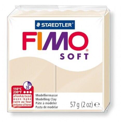 Pain de pate FIMO SOFT 57g à l/'unité diverses couleurs NEUF