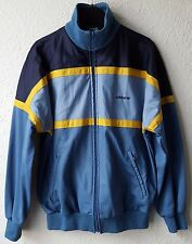 ADIDAS RETRO BLUE YELLOW MEN'S TRACKSUIT TOP TRACK JACKET ZIP VINTAGE TRACKIE L