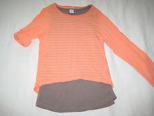 S.OLIVER Langarm Shirt orange + TOP braun grau Gr. M 146 152 wie NEU ** 1/2 Arm