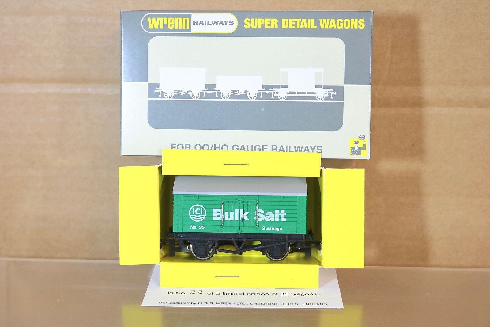 WRENN W5544 COLLECTORS CLUB BR GREEN ICI BULK SALT COVERED WAGON 35 MIB np