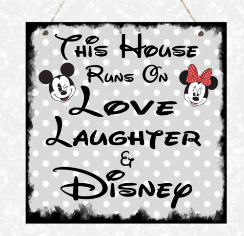 Personalised Any Disney In this House Family Plaque Mum Daughter Sister Gift
