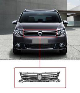 Nuevo-VW-Touran-Caddy-2010-2015-Negro-Rejilla-frontal-con-cromo-moldeado
