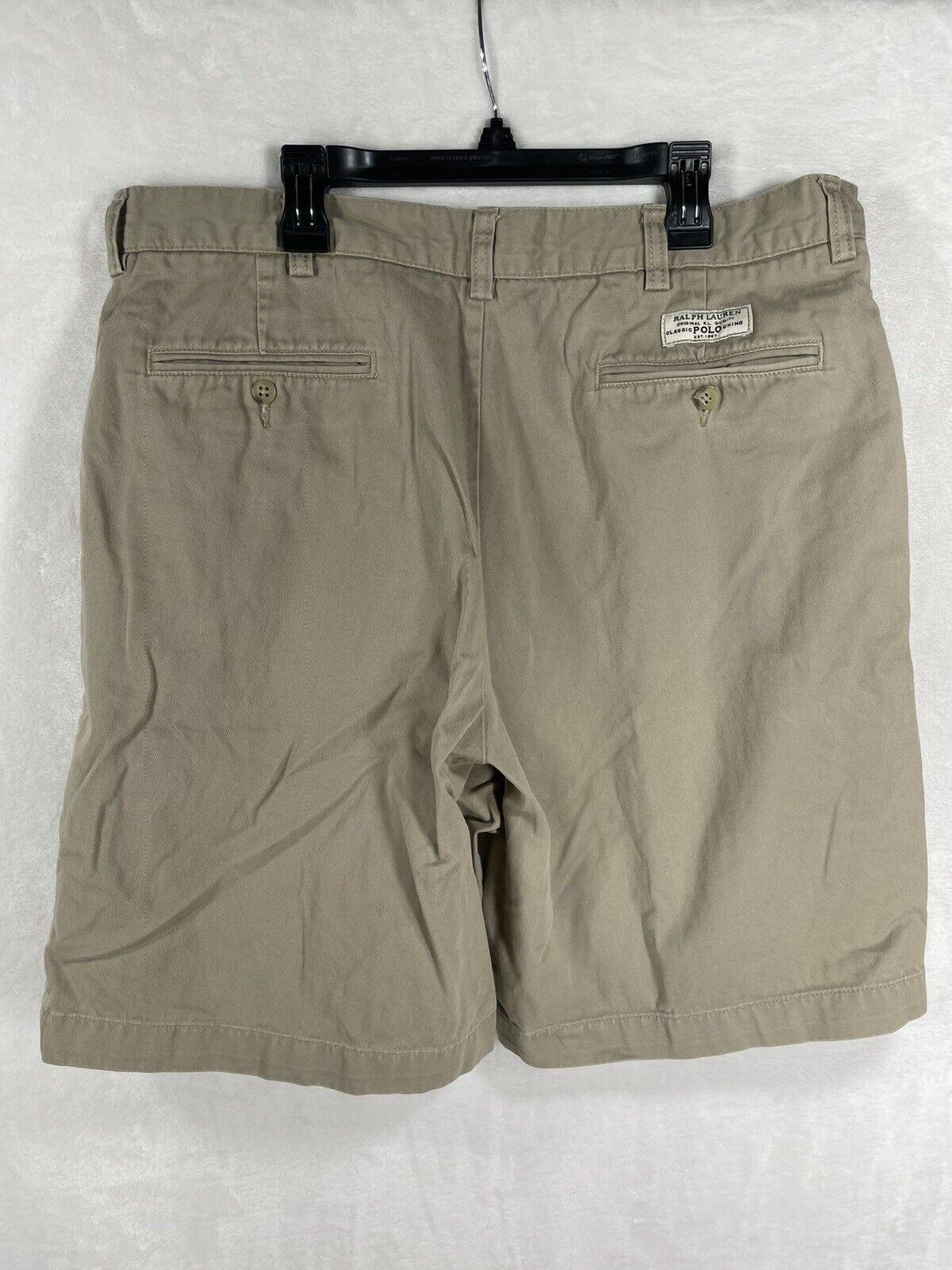 POLO RALPH LAUREN TYLER Shorts 36 Chino Pleated 9… - image 4