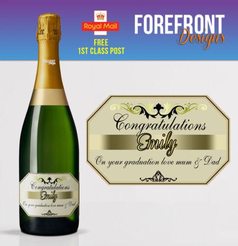 mariage Champagne personnalisée étiquette du flacon cadeau de graduation idéal anniversaire