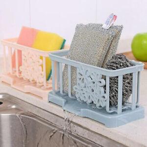 Kitchen-Sink-Caddy-Sponge-Holder-Storage-Organizer-Soap-Drainer-Rack-Strainer-UK
