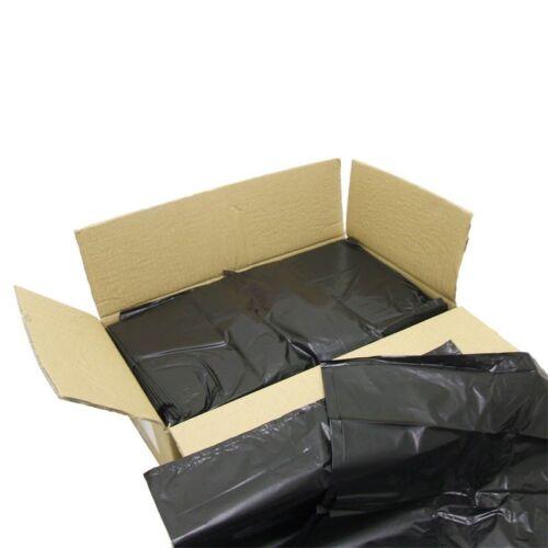 "100 x Heavy Duty Black Bin Bag Liner Refuse Sacks 150L Capacity 20x34x47/"" 160G"