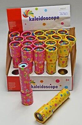 10x Kaleidoskop bunt 16cm Mitgebsel Kinderparty Geburtstagsparty Neu
