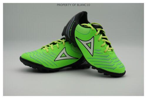 Pirma KIDS Turf Soccer Cleats-Style 3020-Black//Neon Green-Gladiador Activity