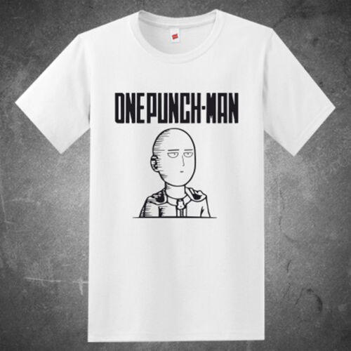 New One Punch-Man Saitama Face Famous Anime Manga Men/'s White T-Shirt Size S-3XL