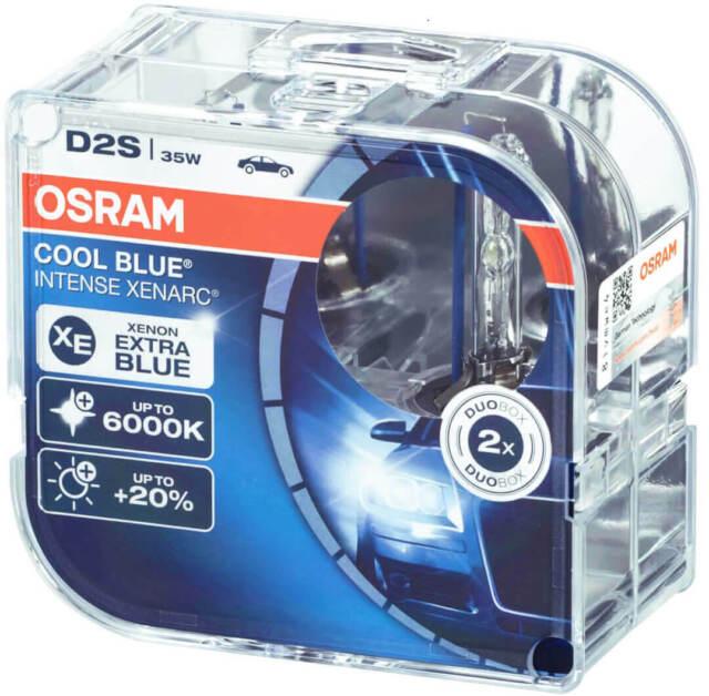 2X D2s Xenon Bulbs Osram Xenarc Headlight 6000K Bulbs Cool Blue Intense Ah