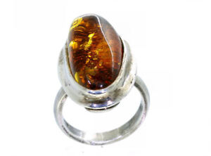 6-16cts-Cabochon-Oval-Bernstein-Ring-Set-in-Silber