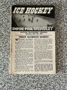 Wembley Empire Pool - Wembley Lions - Ice Hockey Programme 05/05/1956