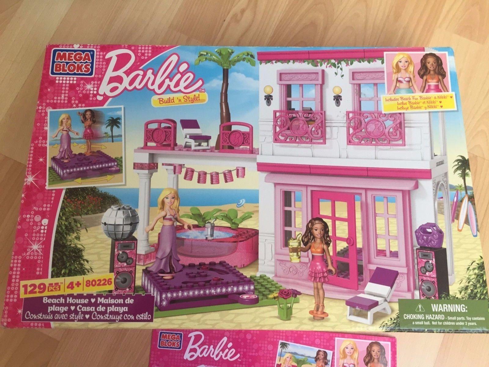 Lego MEGA BLOKS BARBIE maison de de de plage + boite 80226 - Build 'n Style Ages 4+ 0c67a0