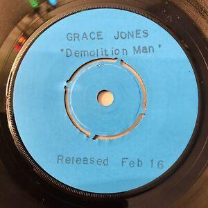 "Grace Jones - Demolition Man 7"" Vinyl Single 1981 Ultra Rare Test Press TP"