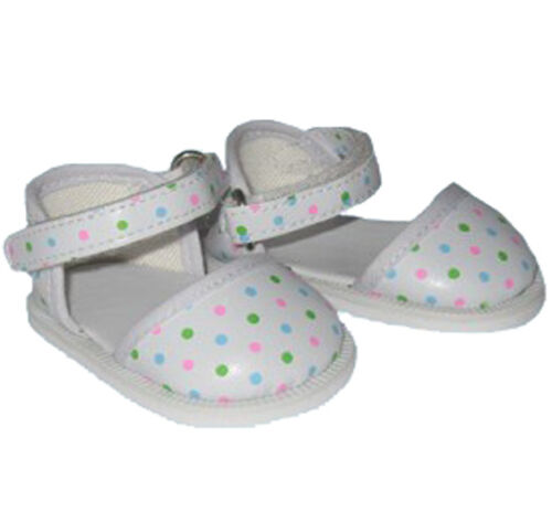 Polka Dot Ankle Strap Shoes Fits 18 inch American Girl Dolls