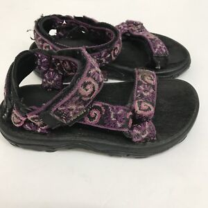 a340f44cea2d TEVA HURRICANE Purple Black Sport Sandals Shoes Girl s Toddler Size ...