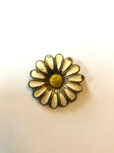 Broche, andet materiale, Messing, Vintage marguerit broche…