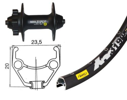 Bike-Parts 26″ Vorderrad Mavic XM 319 Disc + Shim. Deore XT 6-Loch (QR)