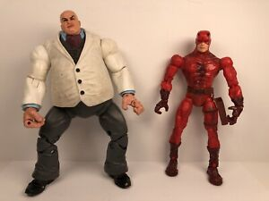 Marvel-Legends-Face-Off-Series-Arch-Enemies-Daredevil-amp-Kingpin-Set-Of-2-Figs