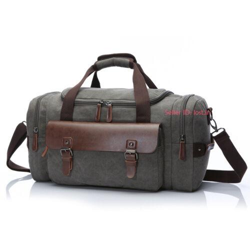 Men/'s Vintage Canvas Duffle Bag Gym Travel Tote Luggage Handbag Large Capacity