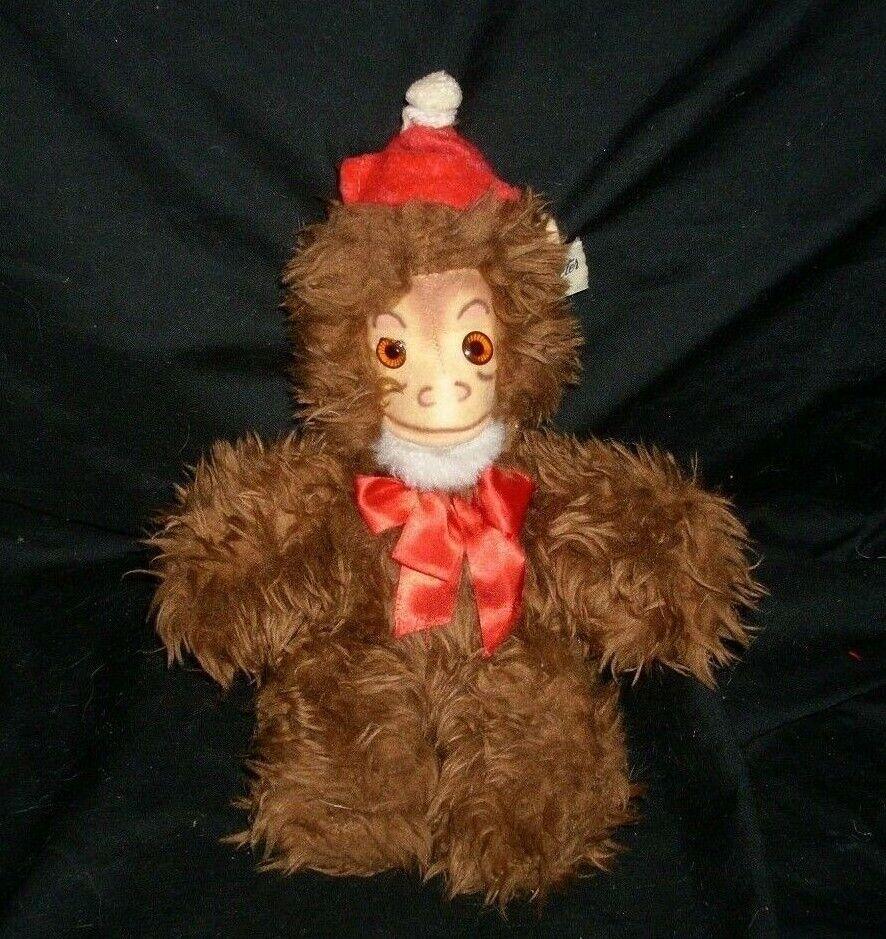11   Vintage Character Co Braun Jakko Affe Ape Plüschtier Plüsch Spielzeug Affe
