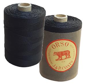 ORSO 400 YDS Cotone comune da cucire Rocchetto da 365 metri N 30 Nero EXTRA 4