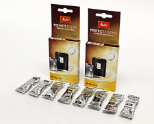 2 PACK MELITTA Perfect Clean Espresso Filter Coffee Machine Descaler 8X Tablets